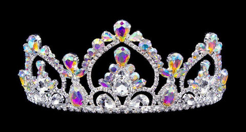 "Tiaras up to 3"" #16778abs - AB Arch Tiara with Combs - 2.5"""