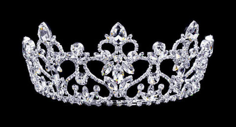 "Tiaras up to 3"" #16801 - Fountain of Hearts Tiara with Combs - 3"""