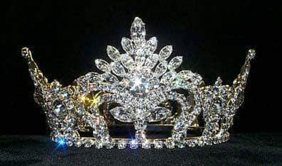 "Tiaras up to 3"" #8680 Pageant Prize Small Crown"
