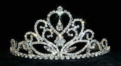 "Tiaras up to 3"" Fine Heart Multi Stone Tiara #12576"
