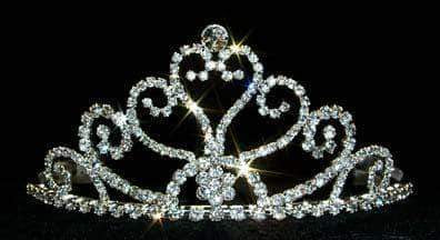 "Tiaras up to 3"" Tall Heart Tiara #12578"