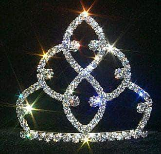 "Tiaras up to 3"" Traditional Tiara - #11187 Silver"
