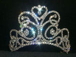 "Tiaras up to 4"" #11867SM - Small Flourishing Heart Tiara  - Contoured"