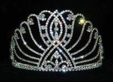 "Tiaras up to 4"" #11916 3.5"" Intersecting Scroll Tiara"