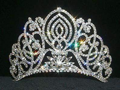 "Tiaras up to 4"" #11919 Large Living Orchid Tiara"