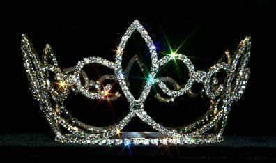 "Tiaras up to 4"" #13372 Skipping Fleur De Lis Crown"