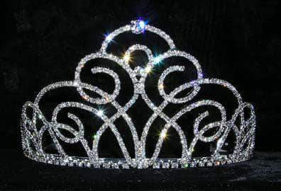 "Tiaras up to 4"" #13566 Concierto Swirl Small Tiara"