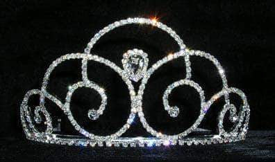 "Tiaras up to 4"" #14035 - Pear Down Swirl Tiara"