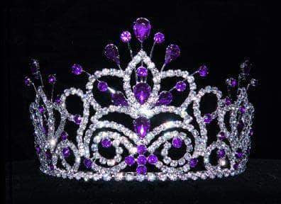 "Tiaras up to 4"" #16107 - Maus Spray Crown - Amethyst - 4"""