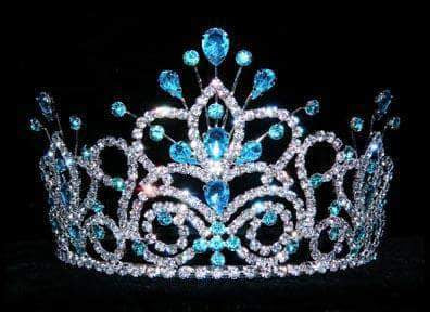 "Tiaras up to 4"" #16107 - Maus Spray Crown - Aquamarine - 4"""