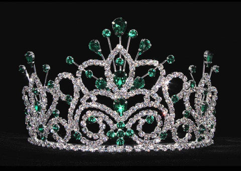 "Tiaras up to 4"" #16107 - Maus Spray Crown - Emerald - 4"""