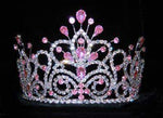 "Tiaras up to 4"" #16107 - Maus Spray Crown - Light Rose - 4"""