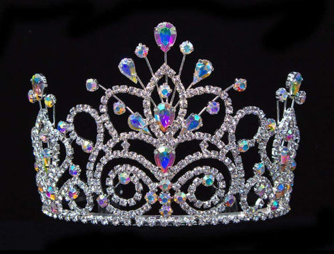 "Tiaras up to 4"" #16107ab - Maus Spray Crown - AB - 4"""