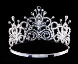 "Tiaras up to 4"" #16107CRYST - Maus Spray Crown - Clear Crystal - 4"""