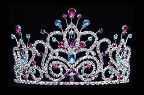 "Tiaras up to 4"" #16107LMS - Maus Spray Crown - Light Multi - 4"""