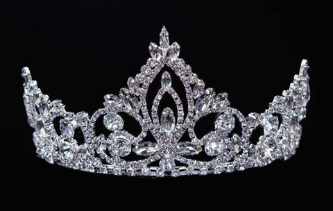 "Tiaras up to 4"" #16449 - Pageant Prime Tiara with Combs - 3"""