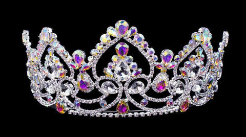 "Tiaras up to 4"" #16459abs - AB Arch Tiara with Combs 3.5"""