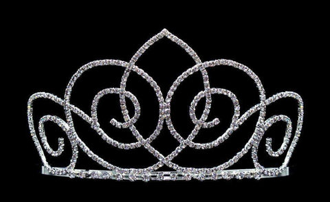 "Tiaras up to 4"" #16575 - Swirl Twirl Tiara with Combs - 3.5"""