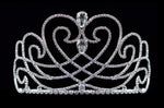 "Tiaras up to 4"" #16583 - Heart Matrix Tiara with Combs - 4"" Tall"