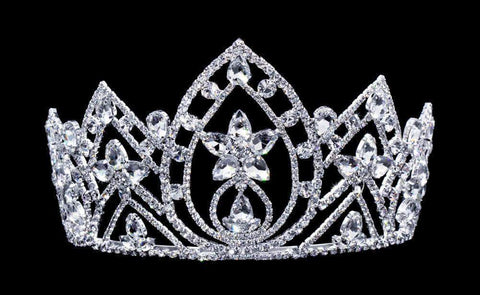 "Tiaras up to 4"" #16657 Pear Blossom Tiara with Combs 4.25"""
