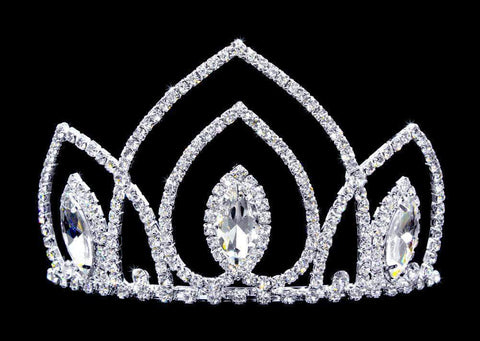 "Tiaras up to 4"" #16736 - Navette Arch Tiara with Combs - 3.25"""