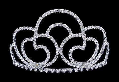 "Tiaras up to 4"" #16747 - Trefoil Tiara with Combs - 3.25"""