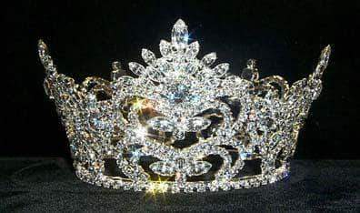 "Tiaras up to 4"" #8681 Pageant Prize Med Crown"