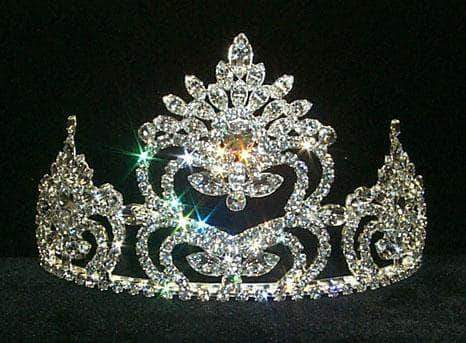 "Tiaras up to 4"" Pageant Prize Tiara #8686"