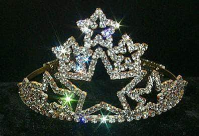 "Tiaras up to 4"" Stacked Star Tiara #11388"