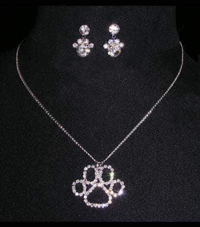 Trendy Jewelry #15452 - Paw Print Necklace Set