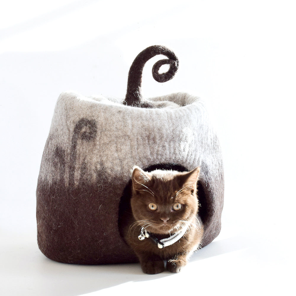 Wool Felted Cat Cave