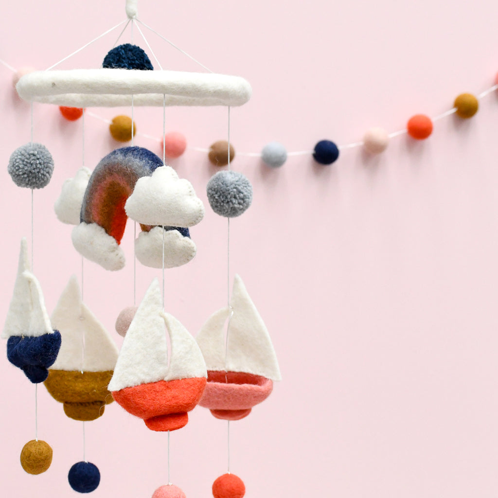 Baby nursery mobiles and hangings