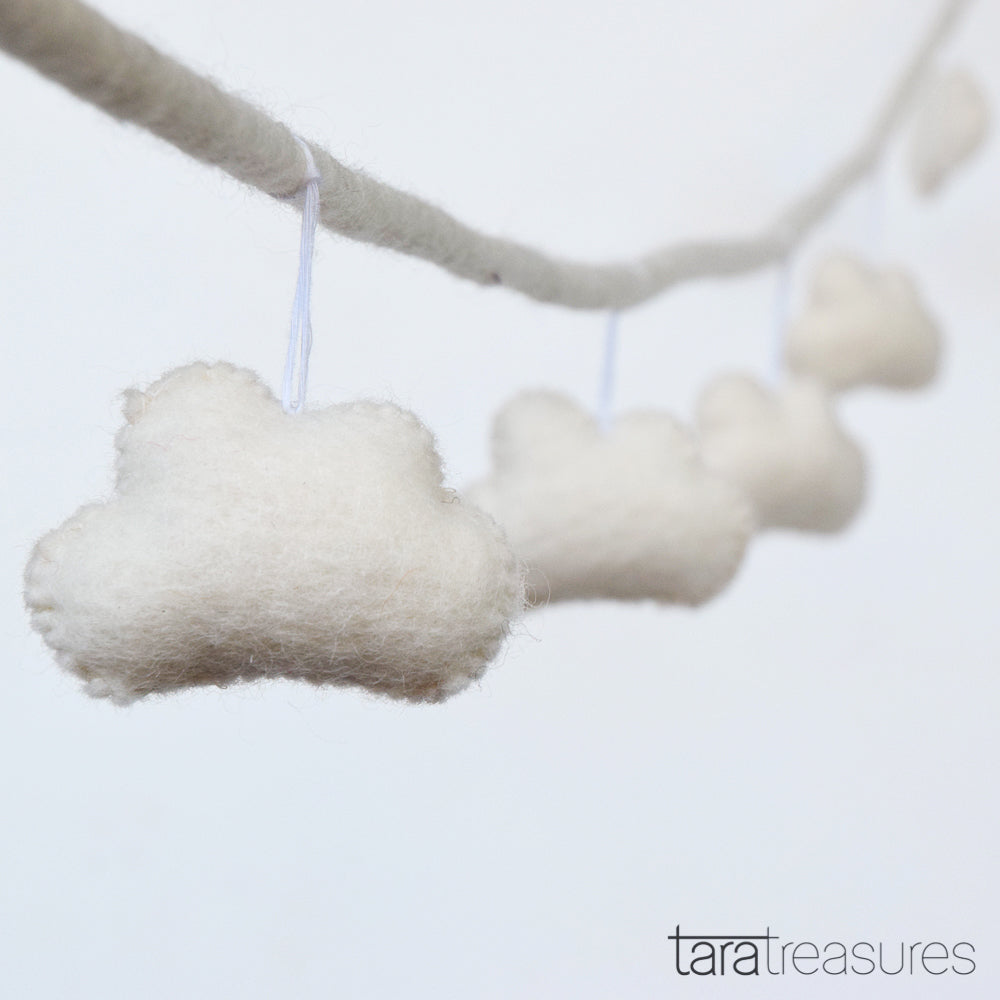 Cloud Garland - White - Tara Treasures