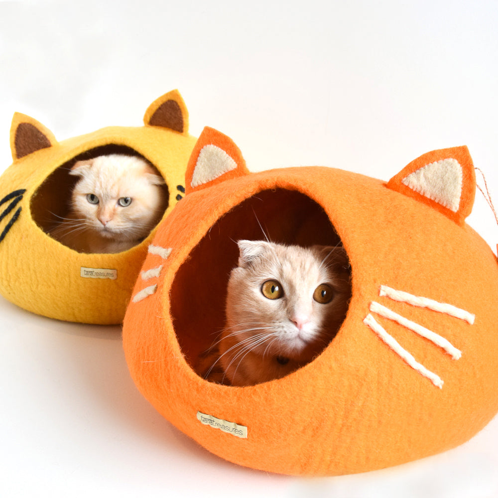 Cat Cave - Cat Head Orange - Tara Treasures