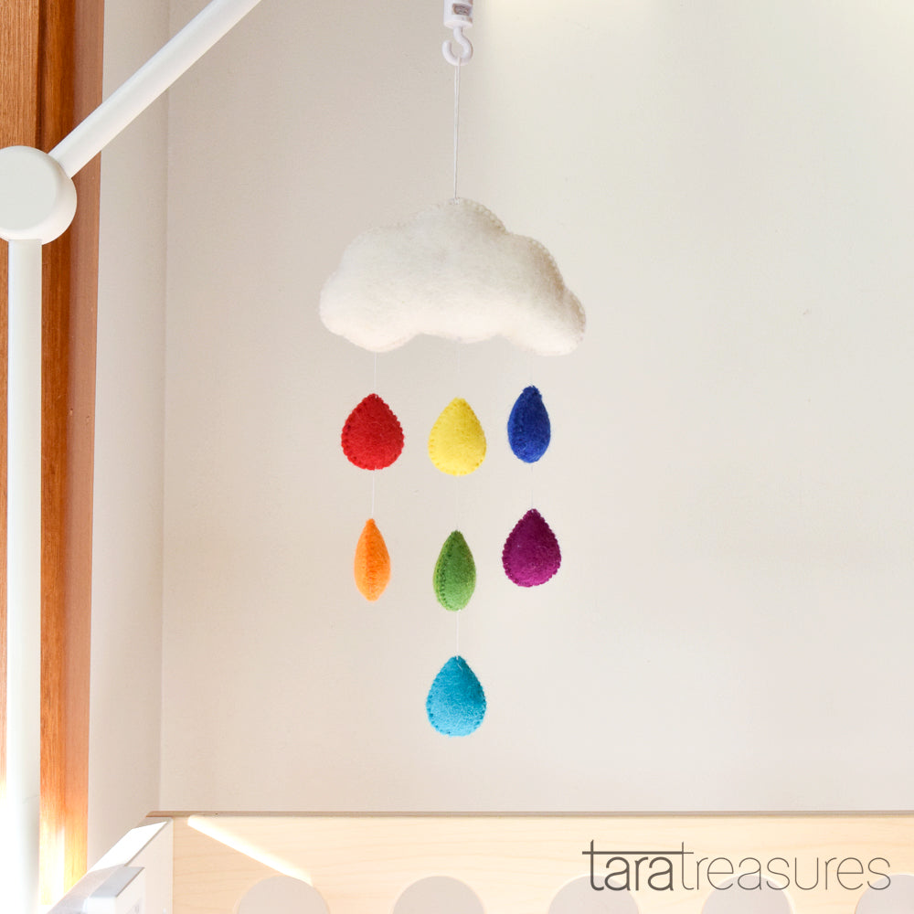 Cloud Nursery Mobile - Small Rainbow - Tara Treasures