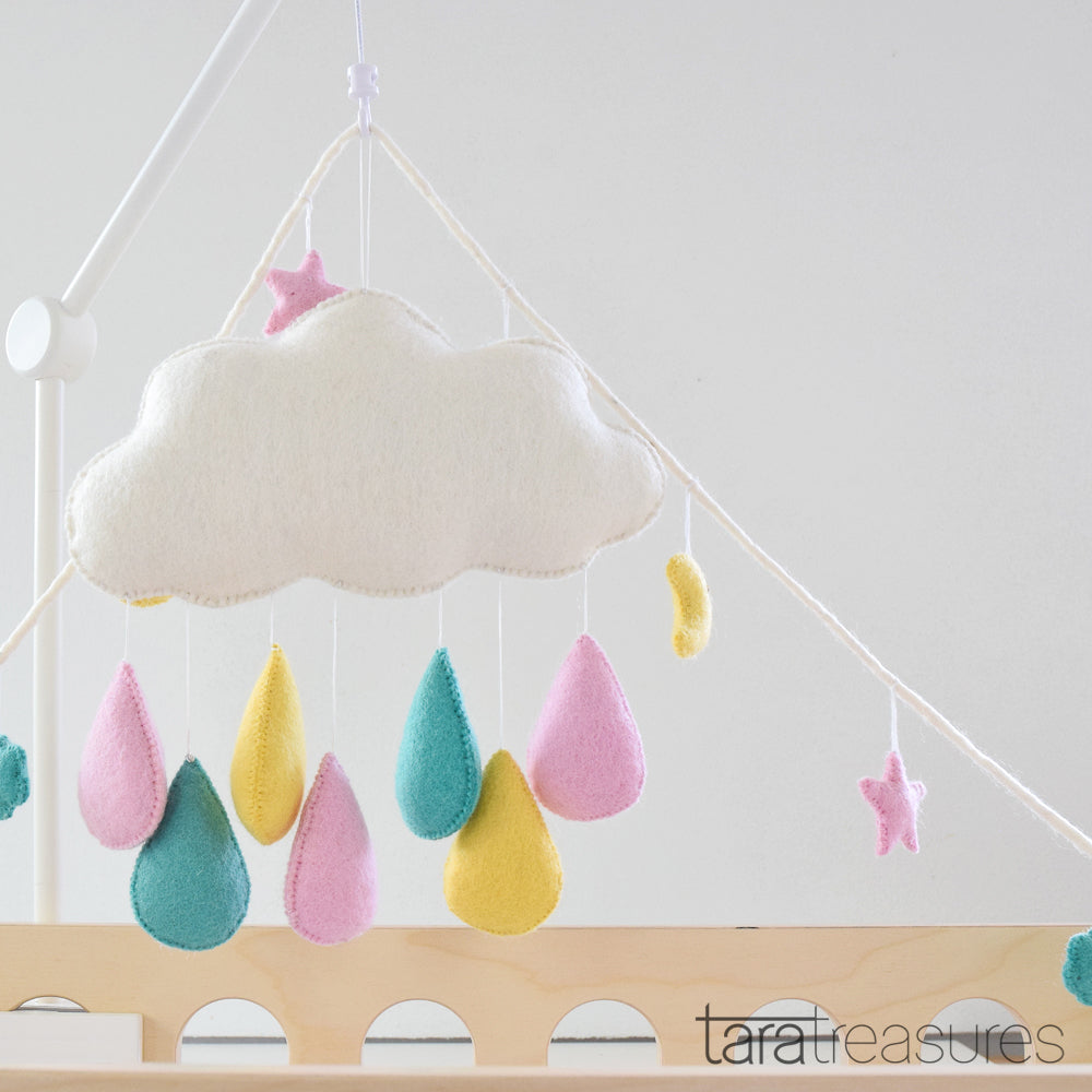 Cloud Nursery Mobile - Big Pastel - Tara Treasures