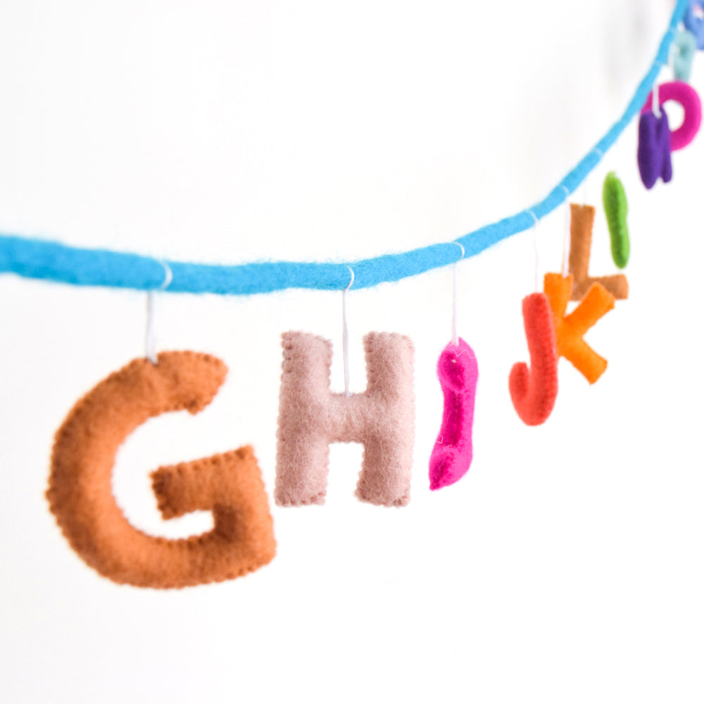 Alphabet Garland A to Z - Colourful - Tara Treasures