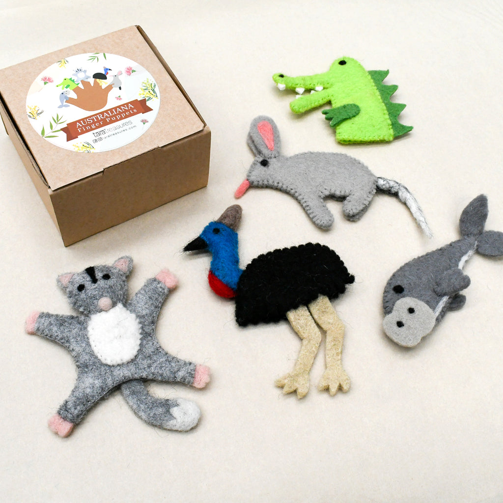 Australian Animals C, Finger Puppet Set - Tara Treasures
