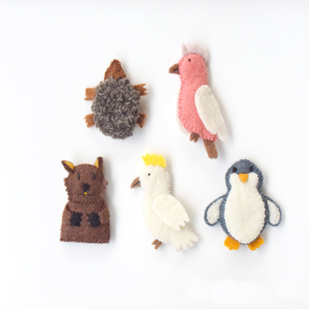 Australian Animals B, Finger Puppet Set - Tara Treasures