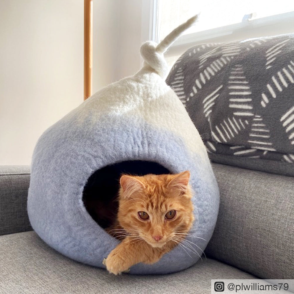 Cat Cave - Pod Blue Ombre - Tara Treasures