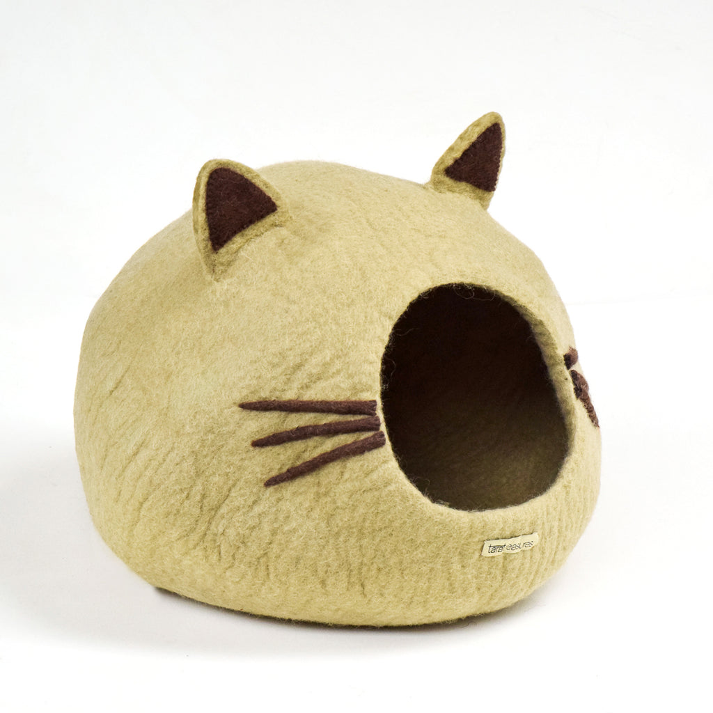 Cat Cave - Cat Head Brown - Tara Treasures