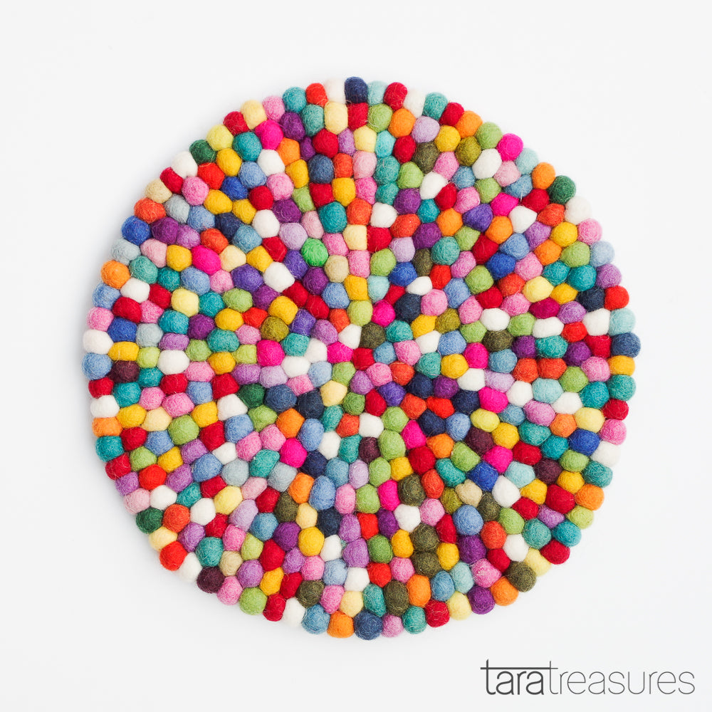 Pot Trivet - Colourful 25cm - Tara Treasures