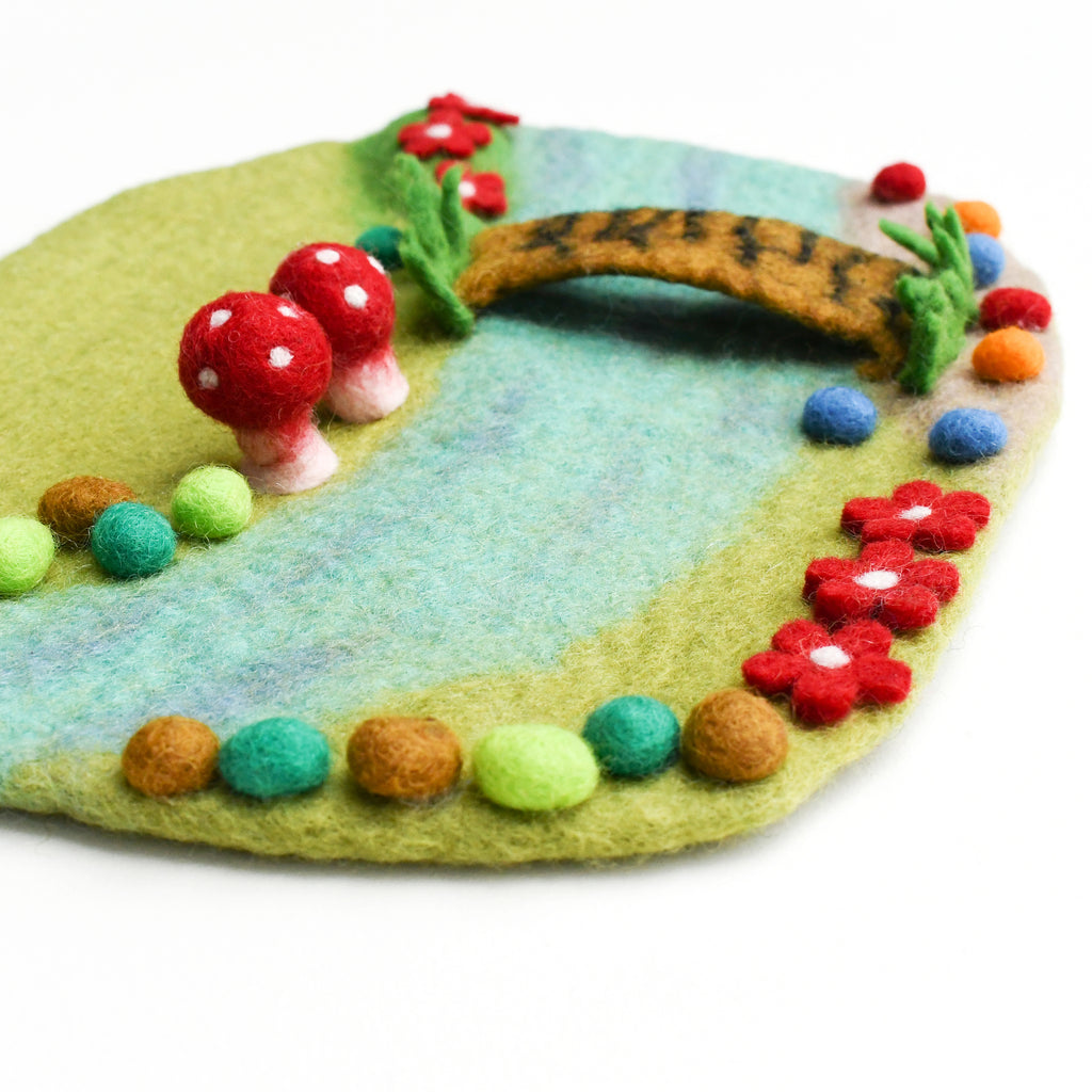 Fairy River and Bridge Play Mat Playscape - Tara Treasures