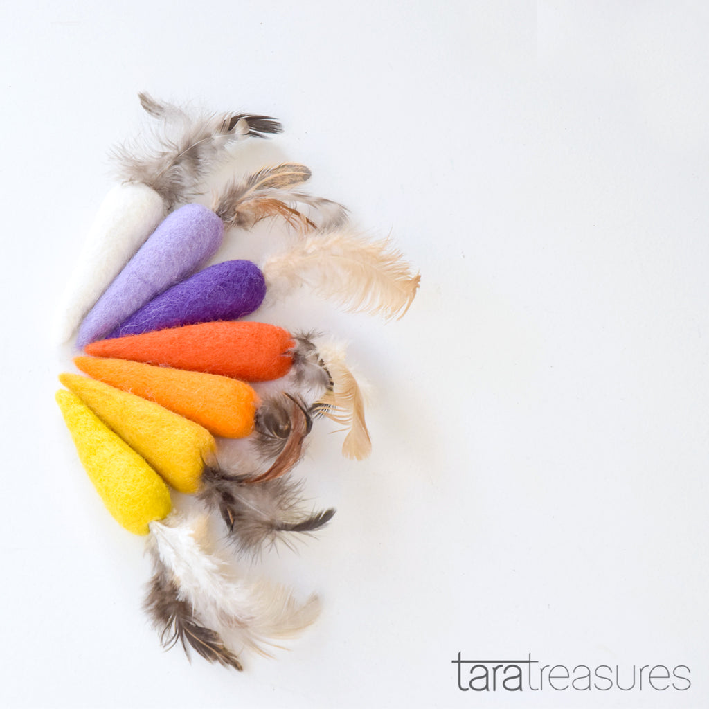 Cat Feather Carrots - Tara Treasures