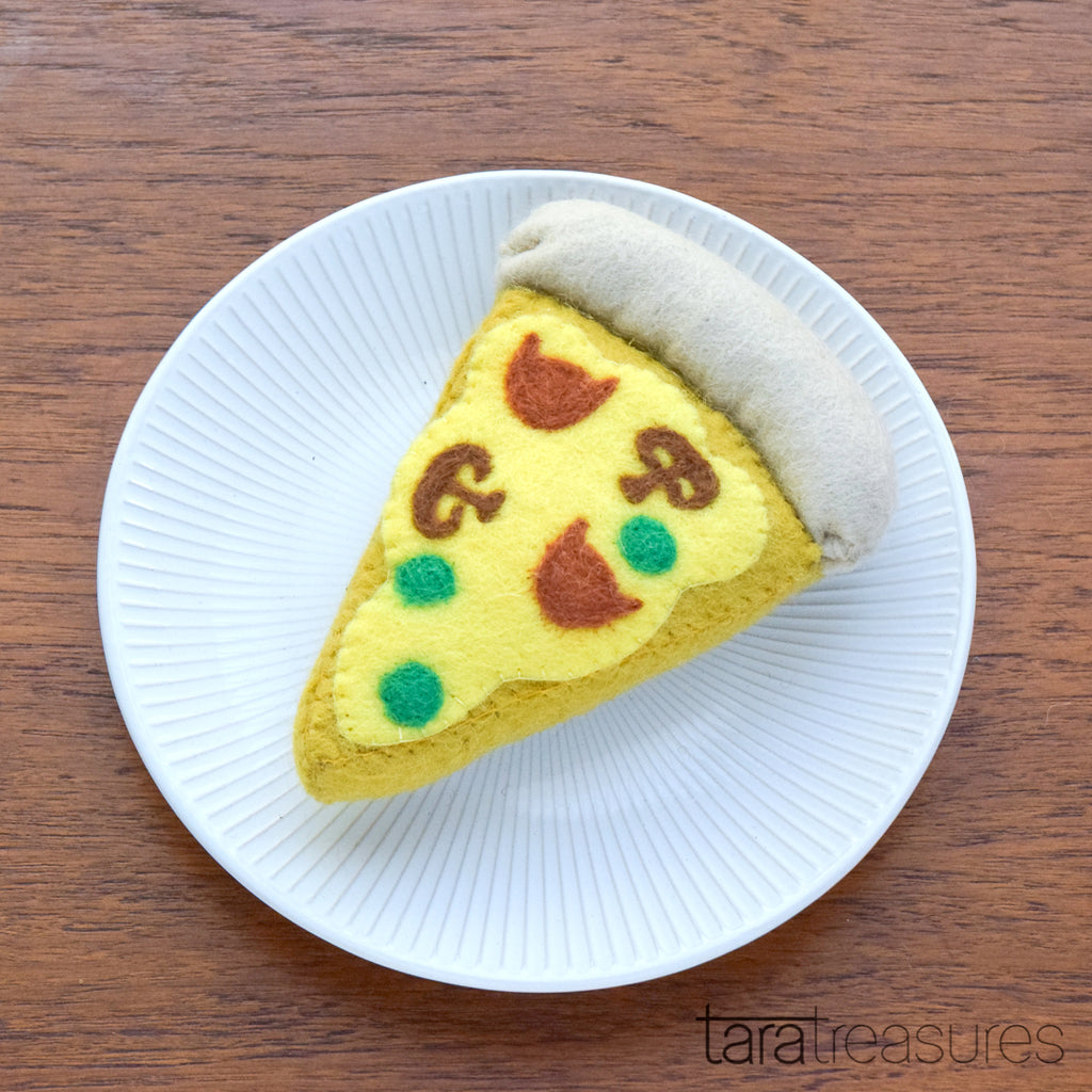 Catnip Pizza Felt Toy for Cats - Tara Treasures