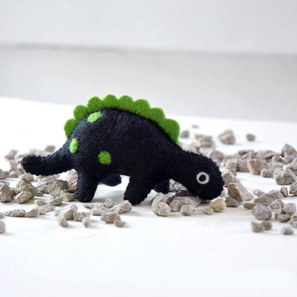 Felt Dinosaur Toy - Green Spikes - Tara Treasures