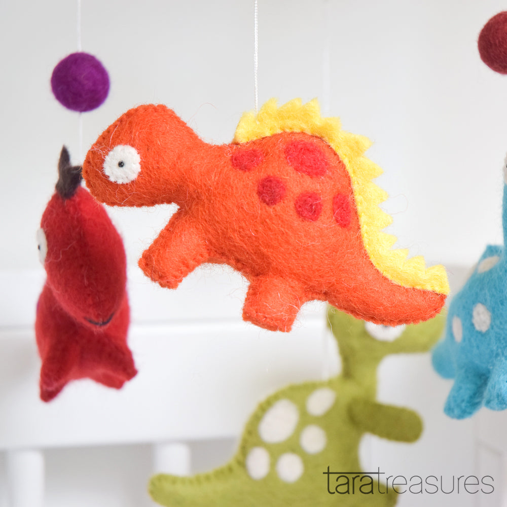 Nursery Cot Mobile - Dinosaurs - Tara Treasures