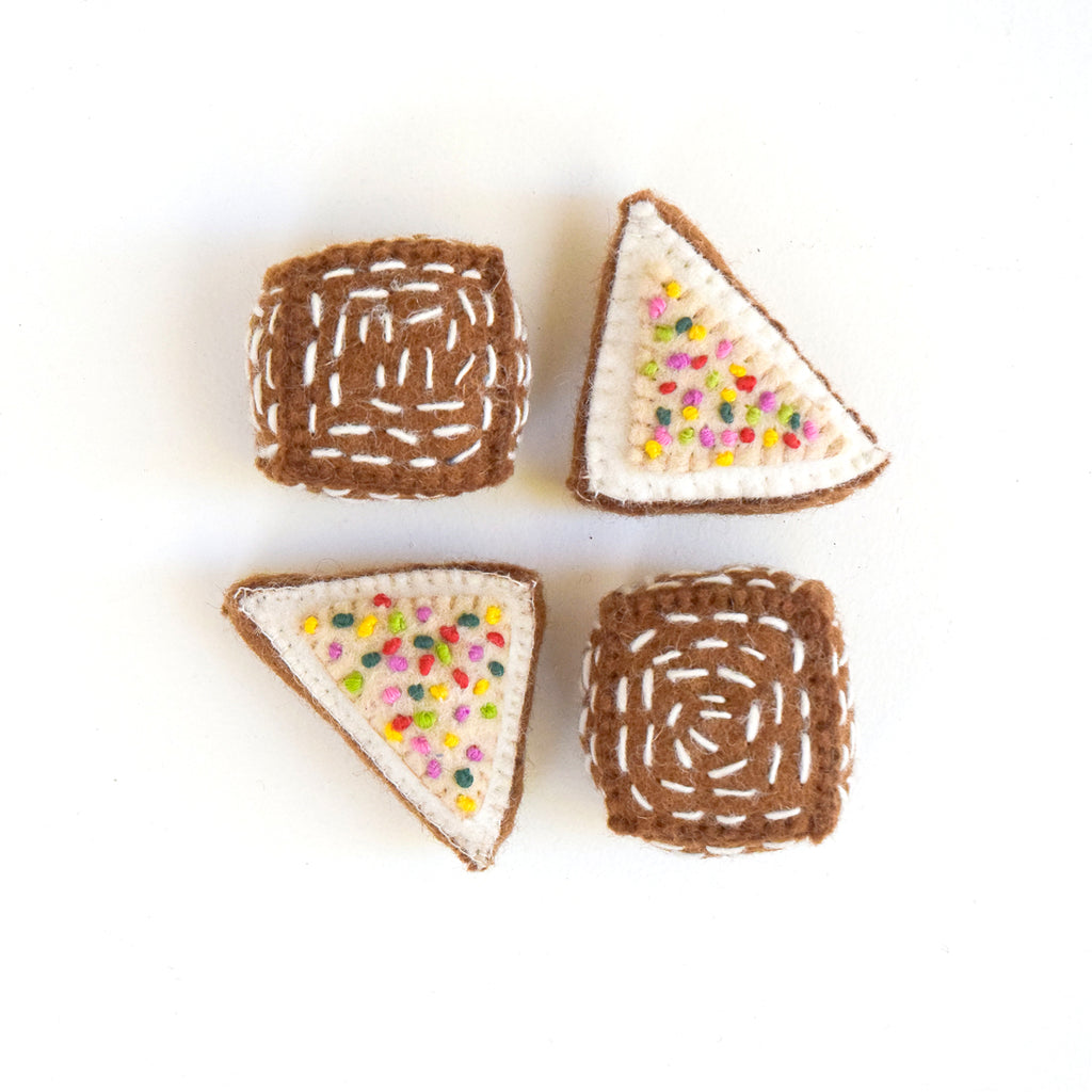 Felt Pretend Play Food - Fairy Breads and Lamingtons - Tara Treasures