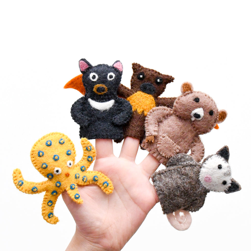 Australian Animals E, Finger Puppet Set - Tara Treasures