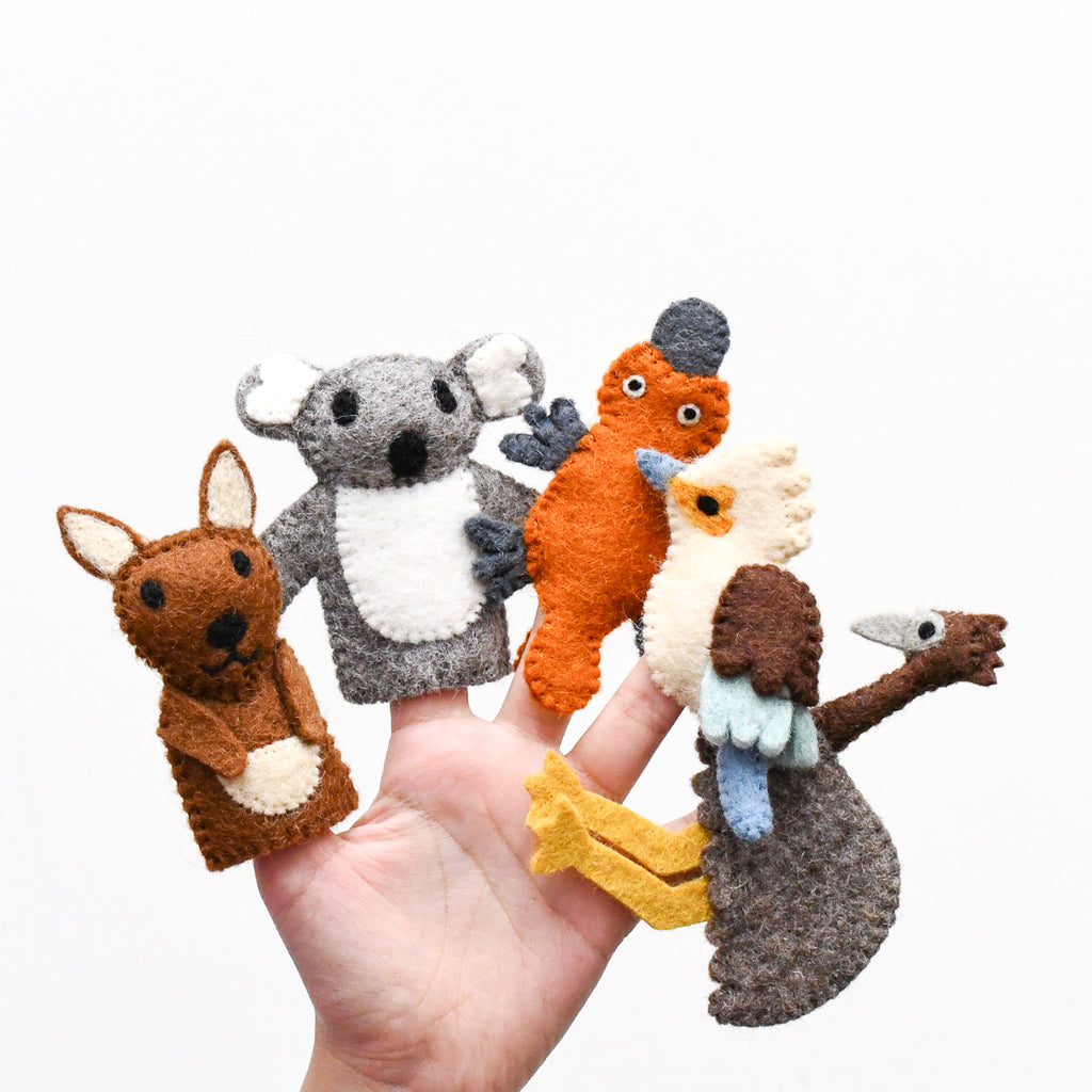 Australian Animals A, Finger Puppet Set - Tara Treasures